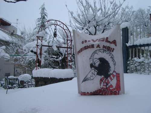 lo stendardo nella neve